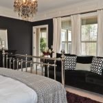 Colour For Walls In Bedroom Bed Sofa Pillows Carpet Window Curtains Black Wall Decor Drawers Flowers Chandelier