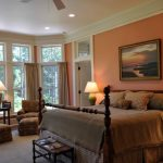 Colour For Walls In Bedroom Big Windows Curtains Chairs Tables Lamps Bed Pillows Painting Traditional Bedroom