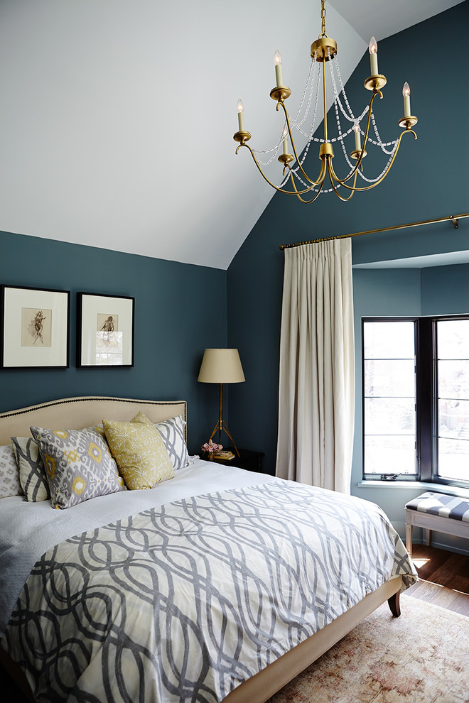 colour for walls in bedroom window carpet bed pillows blue wall decoration transitional bedroom curtain chandelier lamp