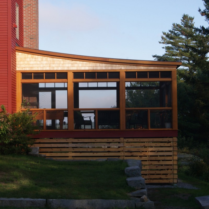 contemporary exterior idea with simple wood house skirting