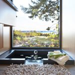 contemporary step down bathroom in Japanese style