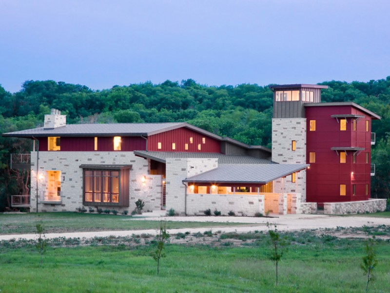 craftsman type of texas hill country home plan marron red domination