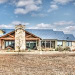 Craftsman Type Of Texas Hill Country Home Plan With Blue Roof