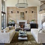 Deep Patina Bronze Ochre Lighting Arctic Pear Chandelier Living Room Idea Fireplace Screened Door