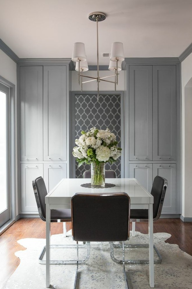 dining cabinet carpet chairs floor to ceiling cabinets flowers hanging lamps table