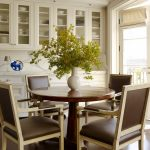 Dining Cabinet Chairs Table Wood Cabinets Traditional Style Room Drawers
