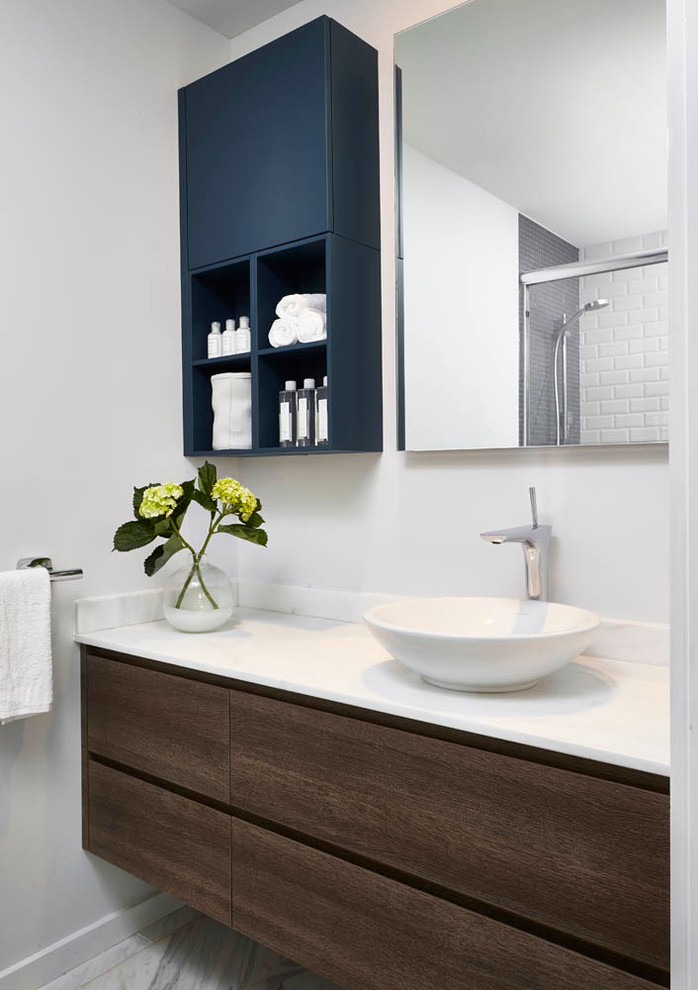 dressing room wall cabinet contemporary style navy cabinet flowers mirror dark wood cabinet faucet wash basin towel rack