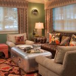 Ethnic Motif Throw Pillow In Dark Sofa For Eclectic Family Room