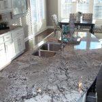 Exodus White Granite Countertop Granite Island White Cabinet Undermount Sink Stainless Steel Faucet
