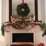 Fall Christmass Mantel Decoration Large Wood Frame Mirror Modern Fireplace Mini Couch