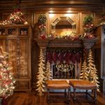 Fall Mantel Decoration Christmas Gift Holder Antique Fireplace Traditional Family Room Wooden Furniture