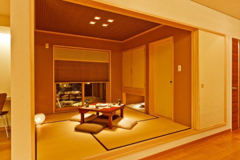 floor seating dining table ceiling lamps lighting doors tatami lovely lighting