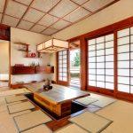 Floor Seating Dining Table Matress Mat Hanging Lamps Wall Shelves Shoji Door Impressive Lighting
