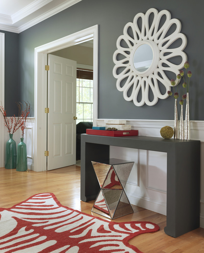 flower mirror millenium mirror side table chair animal design rug simple grey table shaby chic style mirror
