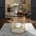 glass pedestal table brass and glass table polished brass entryway ideas unique round entryway table decorative idea for round table hard rug