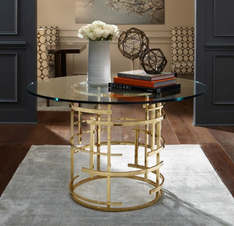 Gl Pedestal Table Br And Polished Entryway Ideas Unique Round Decorative