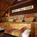Guest Bed Ideas Wood Floor Rustic Farmhouse Bedroom Words Pillows Wall Lamp