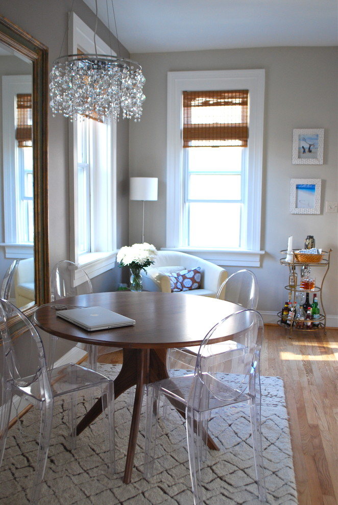 interior designs for small space chandelier dining table transparent chairs pillow window carpet eclectic room
