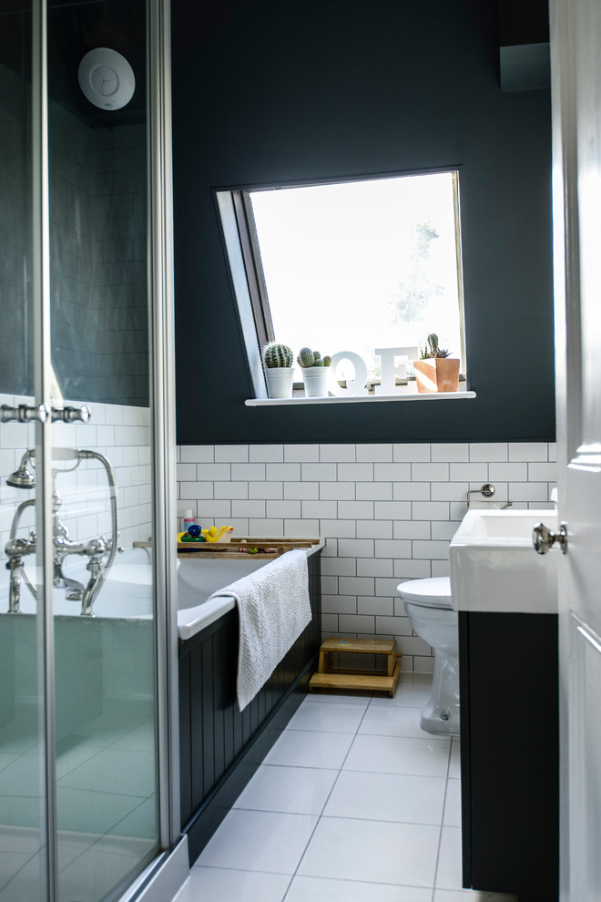 interior designs for small space transitional bathroom floor tiles small wall tile window bathtub toilet