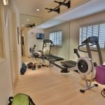 Interior Designs For Small Space Wood Color Floor Home Gym Wall Tv Balls Ceiling Lamps Windows Door