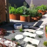 Japanese Garden Exhibition Model Paths Tree Patterns Stones Grass Pots Plants Herbs Vegetables Contemporary Landscape