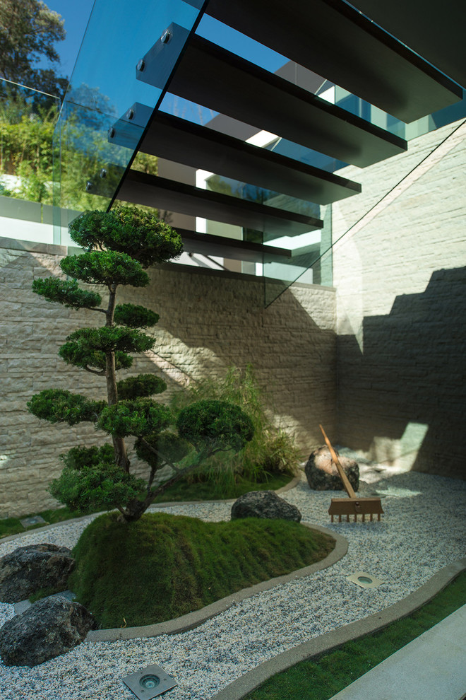 japanese garden exhibition model short tree stones grass stairs beautiful modern asian style garden