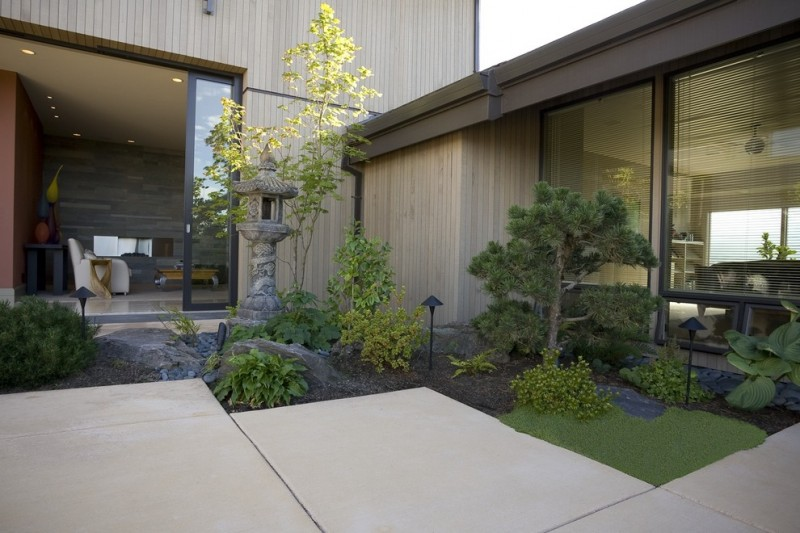 japanese garden exhibition model short trees seating ceiling lamps japanese style decorative item contemporary exterior