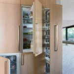 Minimalist Interior Design Storage Modern Kitchen Wood Floor Cabinet Indoor Area