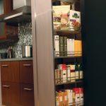 Minimalist Interior Design Storage Wood Floor Tall Pantry Contemporary Kitchen