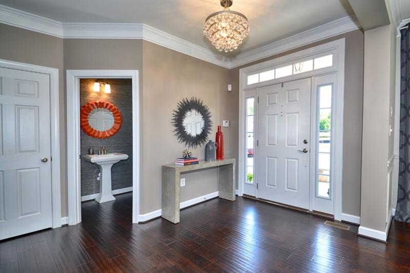 modern entry aurora mirror design mirrored bathroom wooden tales simple two legs marble table elegant lamp
