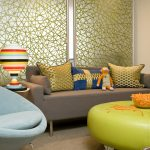 Modern Living Room With Big Screens And Great Sofa Pillows Chair Contemporary Style Table Lamps