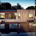 Modern Simple Wooden House Water Stairs Windows Wood Exterior Outdoor Area
