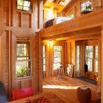 Modern Simple Wooden House Wiid Floor Table Chairs Door Windows Lighting Lamps Lights Rustic Look Roses Stool