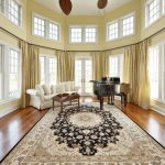 Morning Room Designs Carpet Wood Floor Windows Ceiling Fans Piano Sofa Pillows Table Curtains