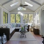 Morning Room Designs Door Big Windows Wood Floor Carpet Pillows Sofa Chair Tables Ceiling Fan Flowers Beach Style Design