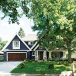 Most Beautiful Exterior Of House Color Combinations Blue Brown White Grass Trees Windows Door Traditional Style Roof