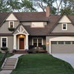 most beautiful exterior of house color combinations door windows wall lamps grass roof traditional style