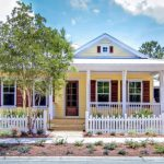 Most Beautiful Exterior Of House Color Combinations Fence Door Windows Beach Style Exterior Railing Yellow White Brown Light Blue