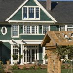 Most Beautiful Exterior Of House Color Combinations Green Wall White Trims Gable Roof Windows Door Victorian Style