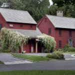 most beautiful exterior of house color combinations red walls windows light colored roofs plants farmhouse exterior