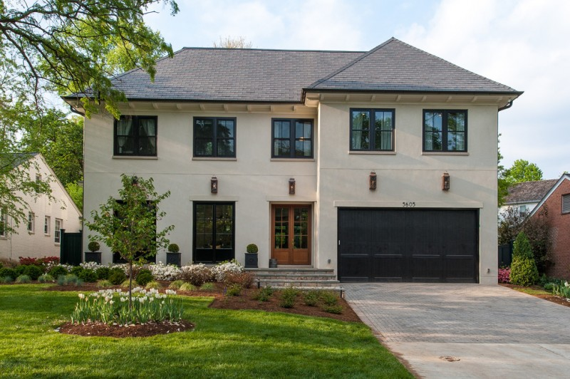 most beautiful exterior of house color combinations transitional style windows roof grass beige dark colours