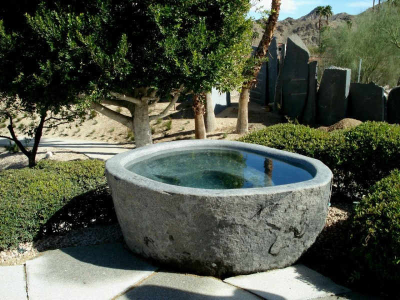 Natural Stone Anese Hot Bath Tub In Outdoor