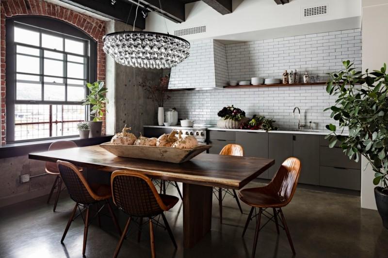 nice interior design arctic pear schandelie natural fresh home kitchen wooden chair