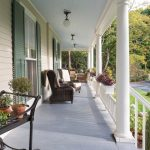 outdoor metal railing with flower design ideas pillars chairs ceiling lamp flowers porch