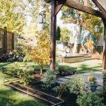 outdoor metal railing with flower design ideas pillars small garden contemporary outdoor area