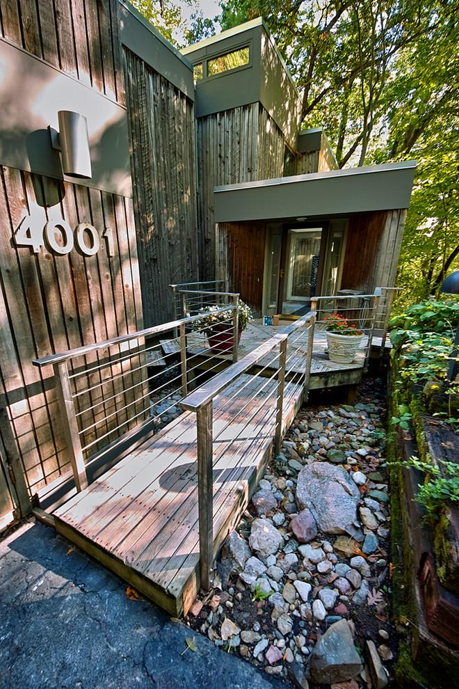outdoor metal railing with flower design ideas stones numbers door big pots wood