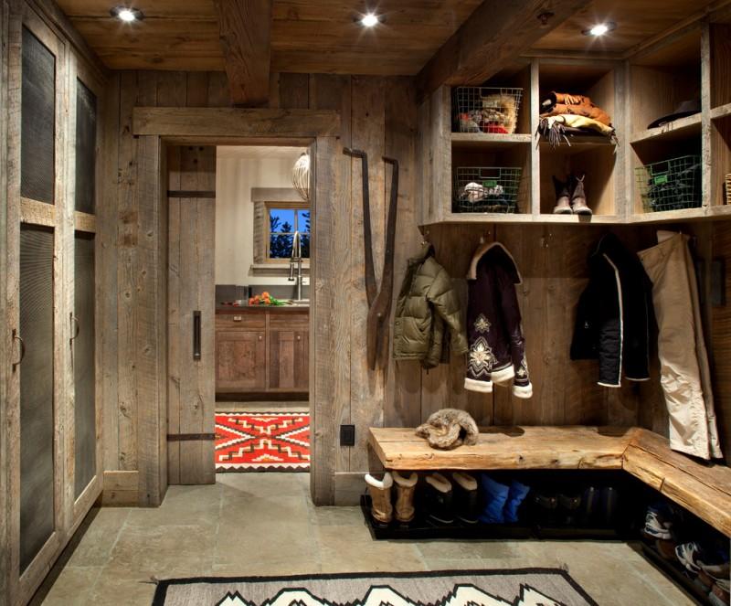 rustic mud wood interior carpet shelves clothes shoes sliding door entry window