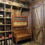 Rustic Mud Wood Interior Slate Floor Shelves Bench Door Shoes