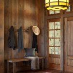 Rustic Mud Wood Interior Wood Floor Carpet Clothes Rack Interesting Lamp Windows