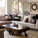 Rustic Rectangular Wooden Coffee Table With Rusty Iron Wheels, Wooden Planks Counter